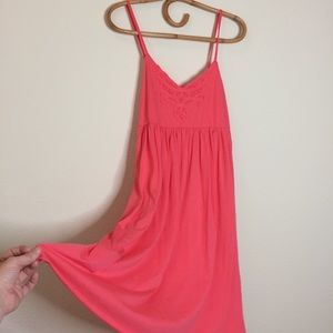 Michael Stars dress pink strap stretchy boho sun
